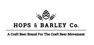 Hops and Barley Logo with Slogan White