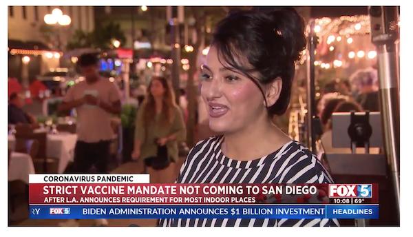 CEO Sara Arjmand responds to indoor vaccine mandate on Fox 5 News.